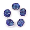 Lamp Bead Seashell 5Pc 22x18mm Evening Blue